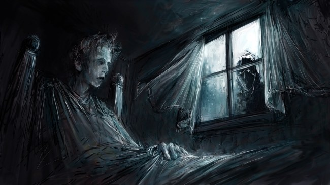 Artwork for a motion graphics sequence for a horror film